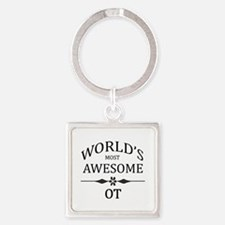 World's Most Awesome OT Square Keychain