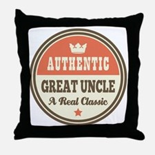 Classic Great Uncle Throw Pillow