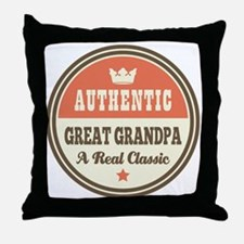Classic Great Grandpa Throw Pillow