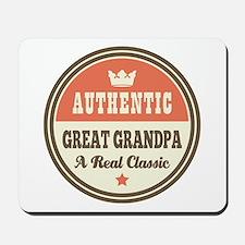 Classic Great Grandpa Mousepad