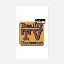 Future Reality TV Contestant Rectangle Decal