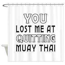 Muay Thai Martial Arts Designs Shower Curtain