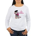 I Love Poodles Women's Long Sleeve T-Shirt