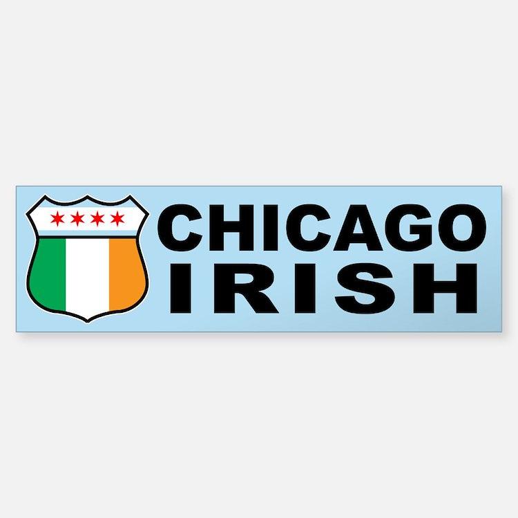 Chicago Irish American Sign Bumper Bumper Bumper Sticker