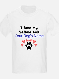Custom I Love My Yellow Lab T-Shirt