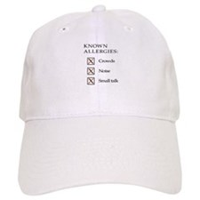 Known Allergies - crowds, noise, small talk Baseball Cap