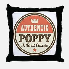 Classic Poppy Throw Pillow