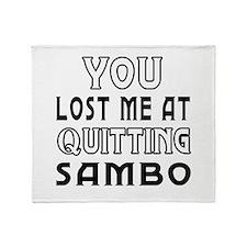Sambo Martial Arts Designs Throw Blanket