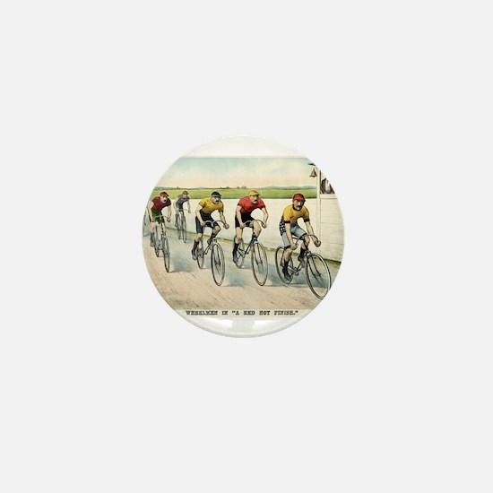 Wheelmen in a red hot finish - 1894 Mini Button