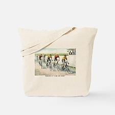 Wheelmen in a red hot finish - 1894 Tote Bag