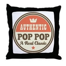 Classic Pop Pop Throw Pillow