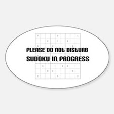 Please do not disturb, sudoku Oval Decal
