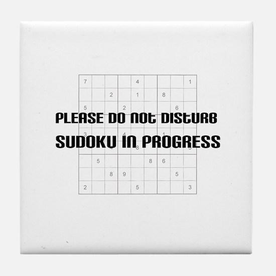 Please do not disturb, sudoku Tile Coaster