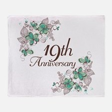 19th Anniversary Keepsake Throw Blanket