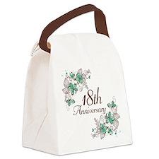 18th Anniversary Keepsake Canvas Lunch Bag