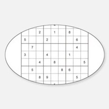 Sudoku Square Oval Decal
