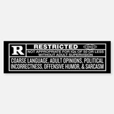 Rated R Bumper Car Car Sticker