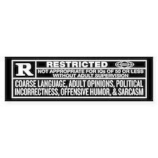 Rated R Bumper Car Sticker