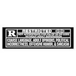 Rated R Bumper Sticker
