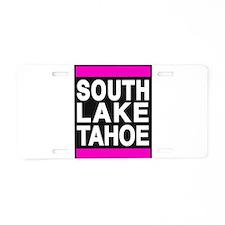 south lake tahoe 1 pink Aluminum License Plate
