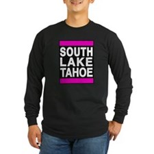 south lake tahoe 1 pink Long Sleeve T-Shirt