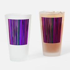 Purple Stripes Drinking Glass