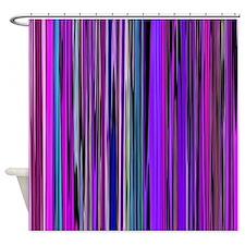 Purple Stripes Shower Curtain