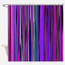 Purple Stripes Shower Curtain