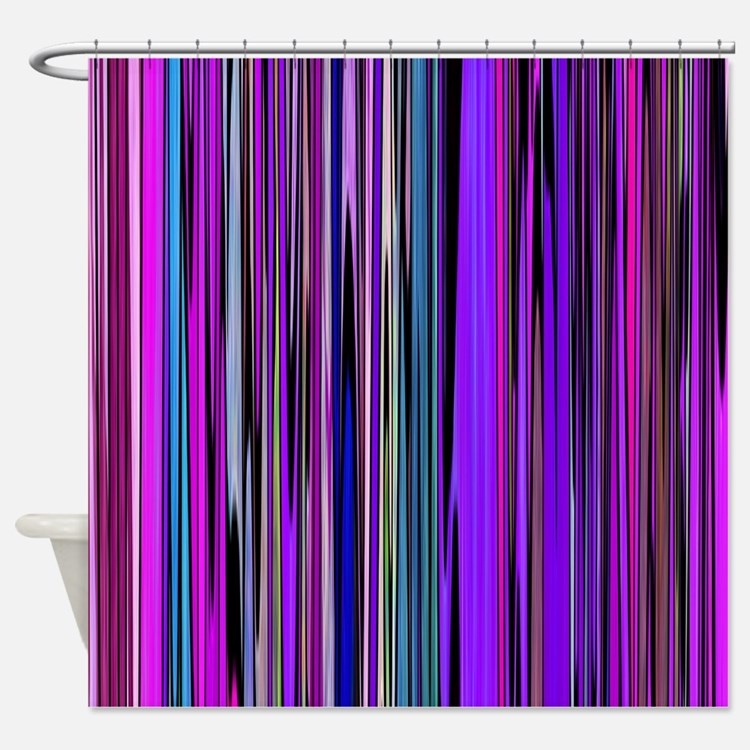 Purple Stripes Shower Curtains Purple Stripes Fabric Shower Curtain Liner