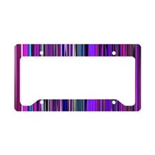 Purple Stripes License Plate Holder