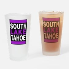 south lake tahoe 2 purple Drinking Glass