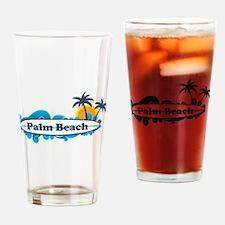 Palm Beach - Surf Design. Drinking Glass
