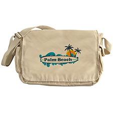Palm Beach - Surf Design. Messenger Bag