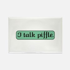 I Talk Piffle Rectangle Magnet (10 pack)