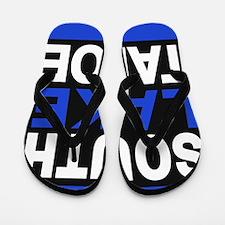 south lake tahoe 2 blue Flip Flops