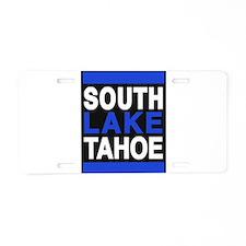 south lake tahoe 2 blue Aluminum License Plate