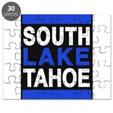 south lake tahoe 2 blue Puzzle
