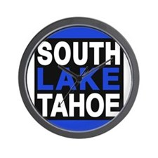 south lake tahoe 2 blue Wall Clock