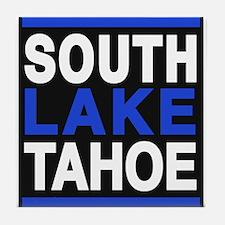 south lake tahoe 2 blue Tile Coaster