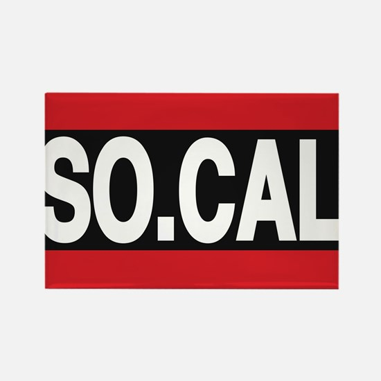 so cal a red Rectangle Magnet