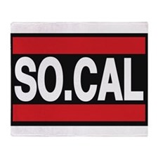 so cal a red Throw Blanket