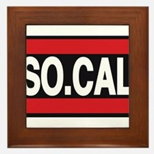 so cal a red Framed Tile