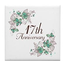 17th Anniversary Keepsake Tile Coaster