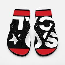 so cal sq red Flip Flops