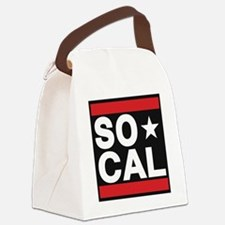 so cal sq red Canvas Lunch Bag