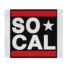 so cal sq red Throw Blanket