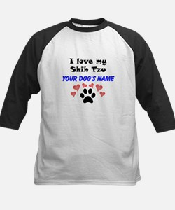 Custom I Love My Shih Tzu Baseball Jersey