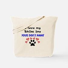 Custom I Love My Shiba Inu Tote Bag
