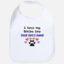 Custom I Love My Shiba Inu Bib