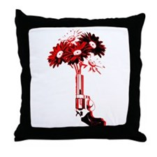 Drive By Flowering Throw Pillow